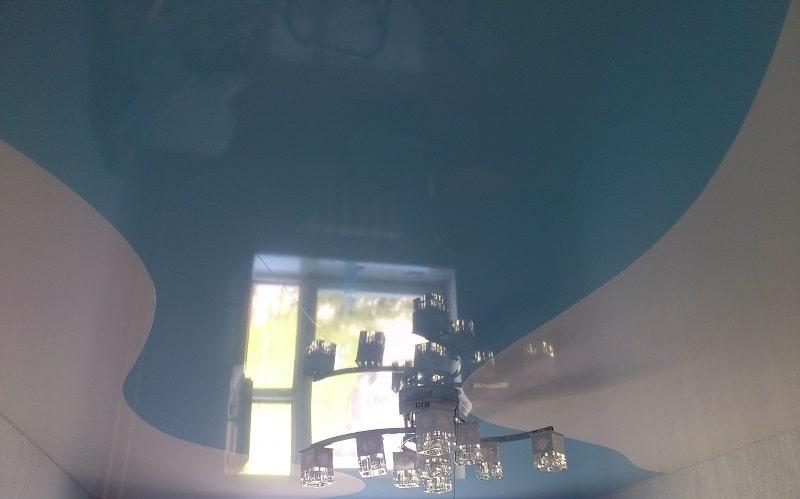 Комбинированный натяжной потолок №12