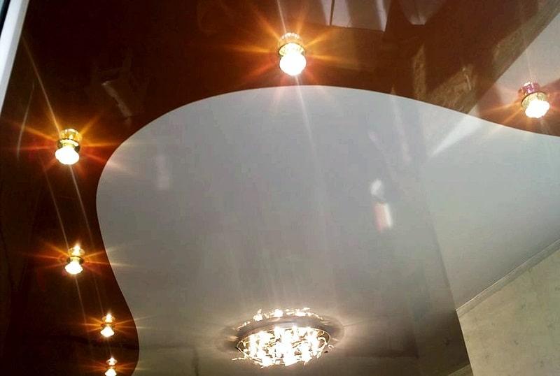 Комбинированный натяжной потолок №4