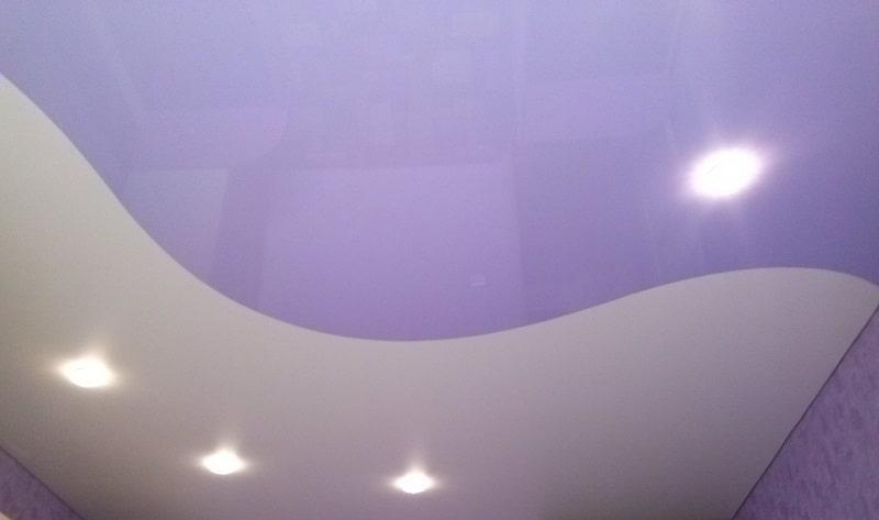 Комбинированный натяжной потолок №6