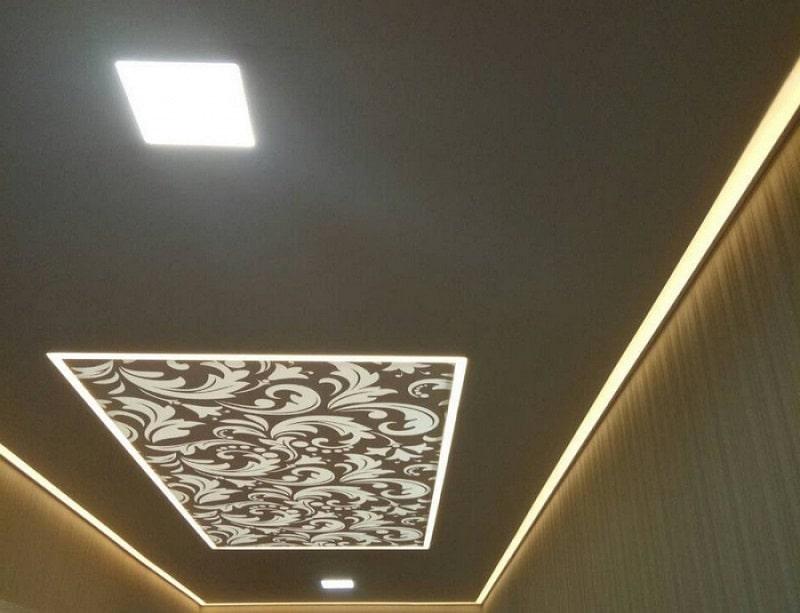 Контурный натяжной потолок №2