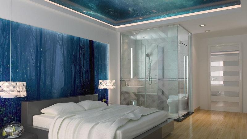 Натяжной потолок для спальни №1