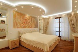 Натяжной потолок для спальни №2