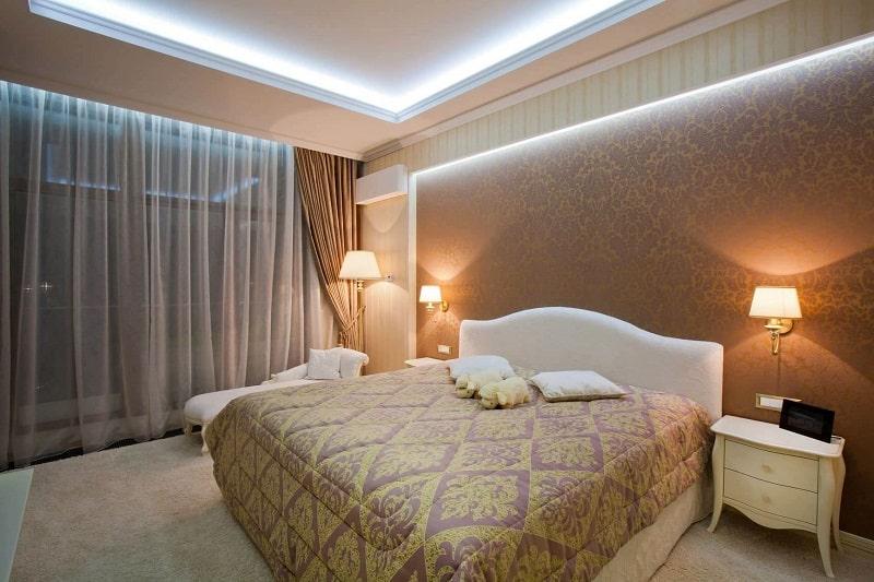 Натяжной потолок для спальни №3