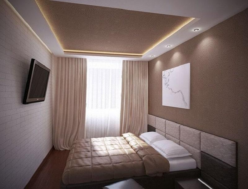 Натяжной потолок для спальни №4