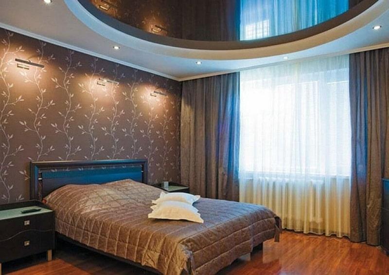 Натяжной потолок для спальни №5