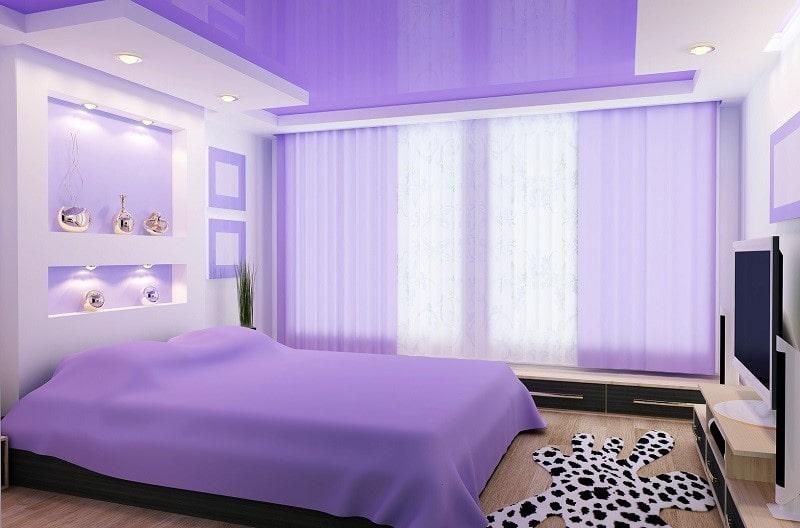 Натяжной потолок для спальни №6