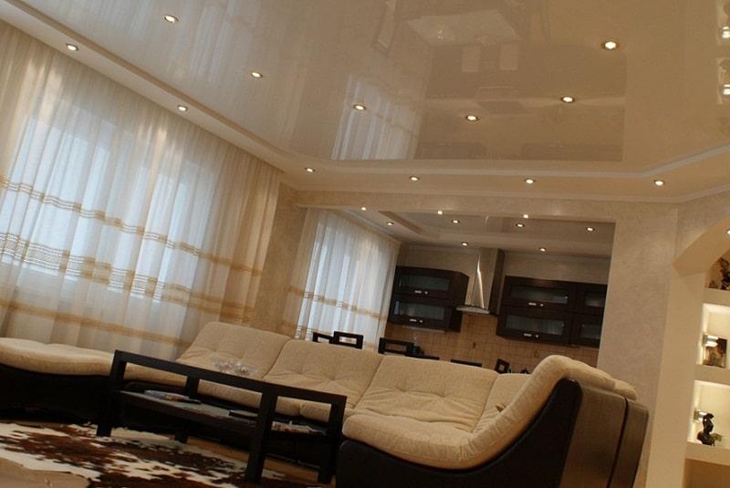 Натяжной потолок для зала №1