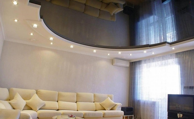 Натяжной потолок для зала №4