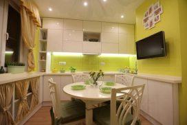 Натяжной потолок на кухню №4