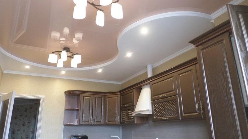 Натяжной потолок на кухню №6