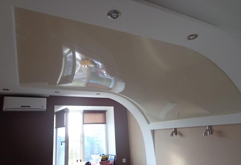 Натяжной потолок на стену №1