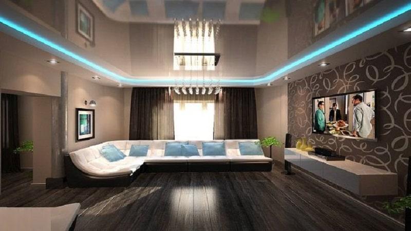 Натяжной-потолок-с-подсветкой-№2