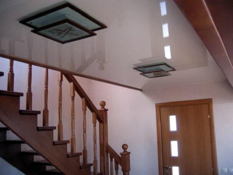 Натяжной потолок в частном доме №2