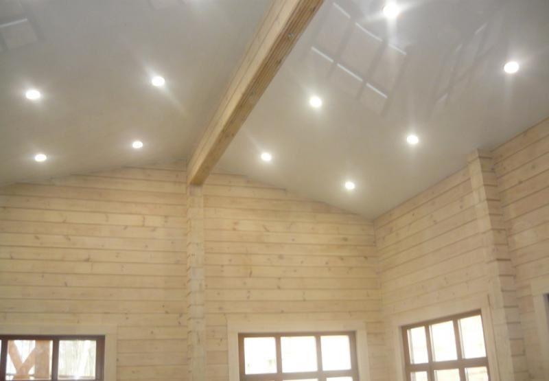 Натяжной потолок в частном доме №6