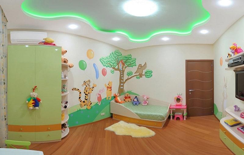 Натяжной потолок в детскую комнату №1