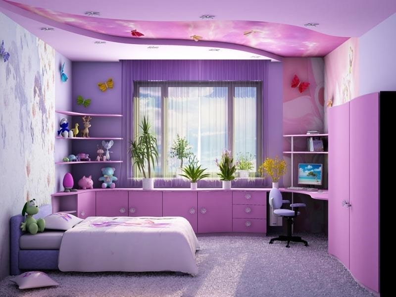 Натяжной потолок в детскую комнату №2