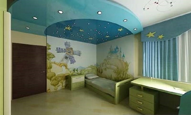 Натяжной потолок в детскую комнату №3