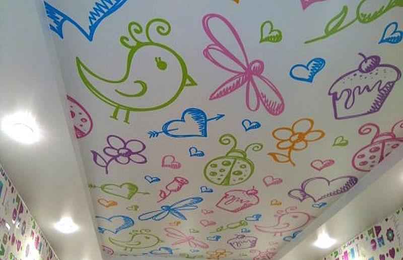 Натяжной потолок в детскую комнату №4