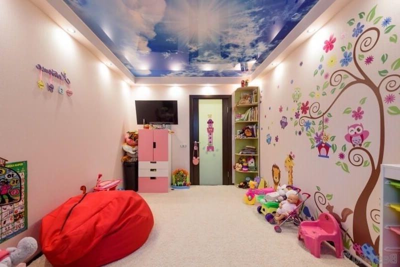 Натяжной потолок в детскую комнату №5