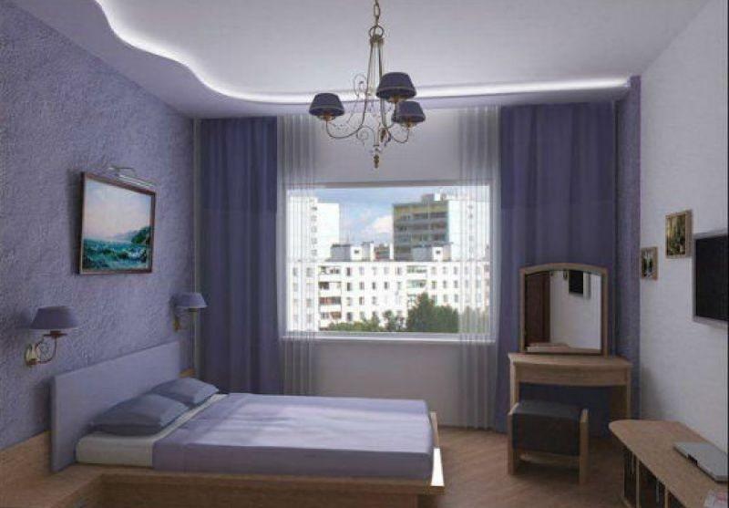 Натяжной потолок в маленькой комнате №2