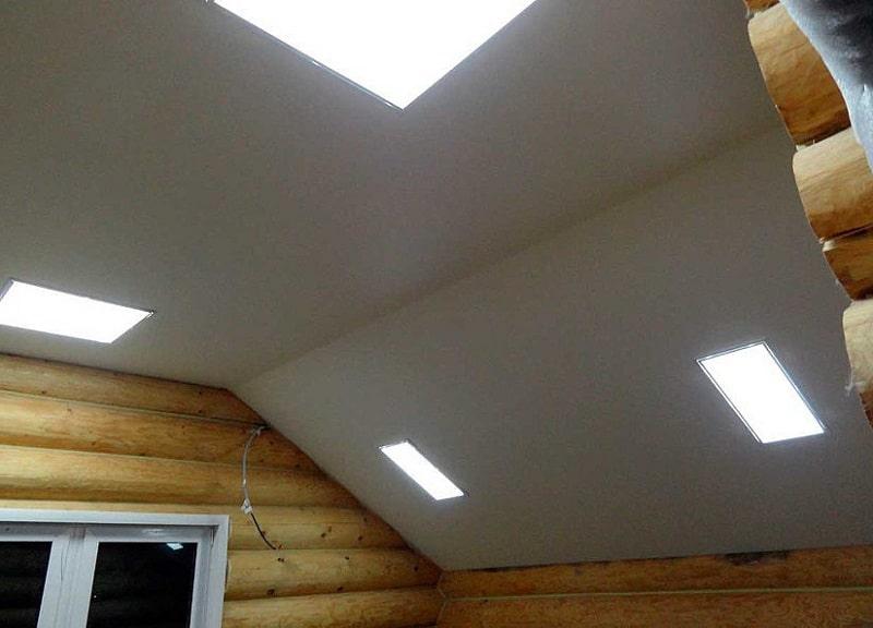Натяжной потолок в неотапливаемом помещении №1