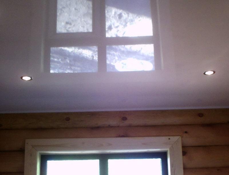 Натяжной потолок в неотапливаемом помещении №2