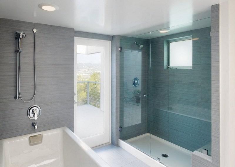 Натяжной потолок в ванной №2