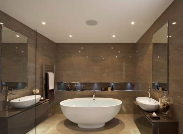 Натяжной потолок в ванной №3