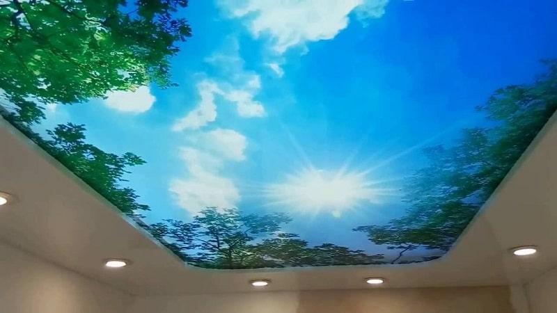 Натяжные потолки 3D №3