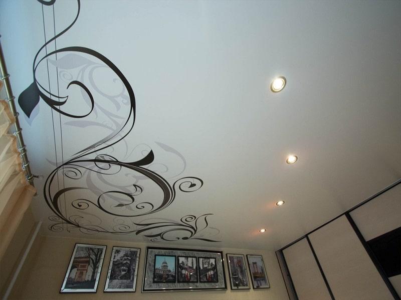 Натяжные потолки с рисунком №6