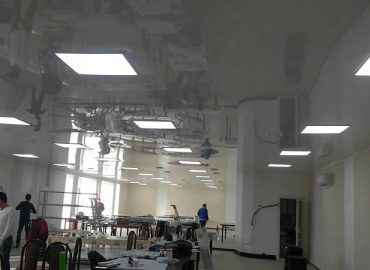 Натяжные потолки в промышленных помещениях №2