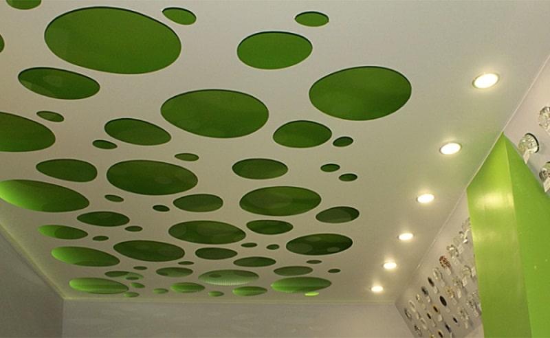 Перфорированный натяжной потолок №6