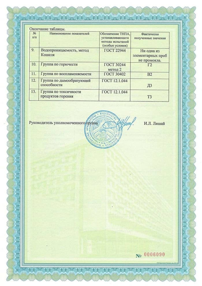 Сертификат PONGS Германия-4